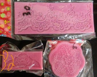 Snowflower Silicone Cake Lace Mat Lace Mat Silicone Lace Mold Silicone Cake Decorating Mold Sugar Lace  Material: Food Grade Silicone   348mm x113mm