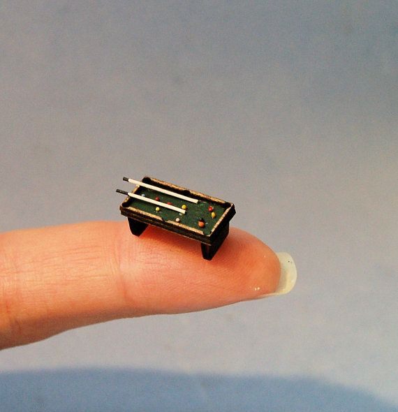 Delightful 1/144th Inch Scale Miniature Pool Table
