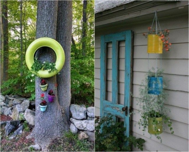 deco-jardin-idees-DIY-pneus-pots-fleurs-suspendus