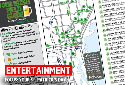The Most Comprehensive (&Printable) List to #StPaddysDay Parties in Milwaukee. Seriously. http://tiny.cc/1io6aw