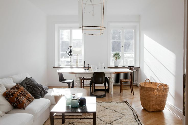 this beautiful Swedish apartment now on my blog #scandinavian #interior