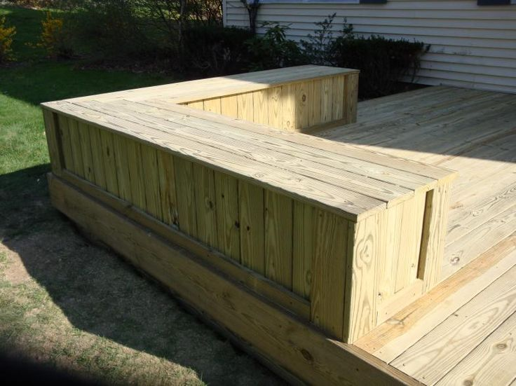 Treated Enclosed Deck Bench Pic Outdoor Pergola Deck