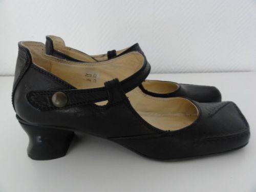 Original-Tiggers-Damen-Schuhe-Gr-40-Schwarz-Echt-Leder-TOPP