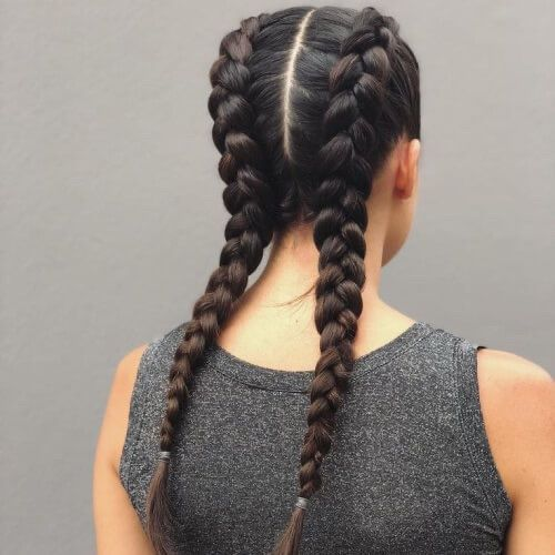 Maybe a Gang Won't be so Bad// P.M | Dutch braid hairstyles, Braids with extensions, Boxer braids hairstyles
