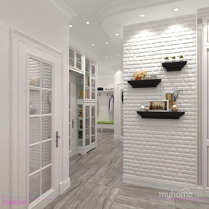 Коридор-кухня в современной однокомнатной квартире. Оформлена в скандинавском стиле. Нам удалось расширить пространство за счет светлых тонов и ярких цветовых акцентов. Кухня площадью 13 кв. м. Коридор 14 кв.м.