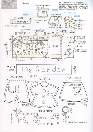 My Garden Quiet Book Page Pattern