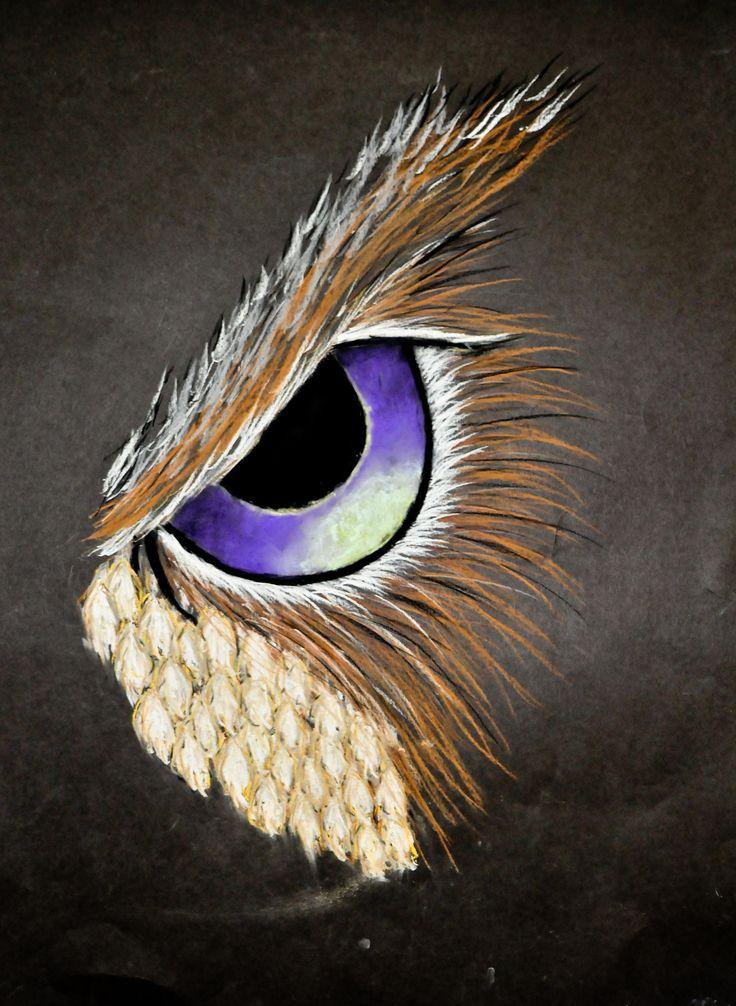 Pastel animal eye study