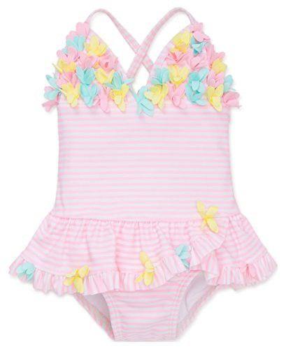 7f66aa6634 Little Me Baby Girls  One Piece Ruffle Swimsuit