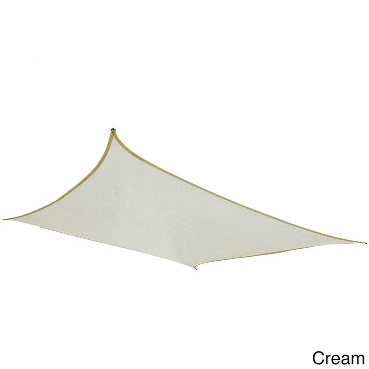 Cool Area Square Oversized 16 Feet, 5 Inches Sun Shade Sail with Stainless Steel Hardware Kit (16 Feet 5 Inches, Cream), Beige Off-White (Plastic) #SS-18514