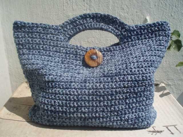 """Hola¡¡¡¡¡     Ta-dah¡¡¡¡¡¡  Bolso de verano .........         Este es el bolso que he hecho para participar en el CAL: """"Tejemos un bolso..."""