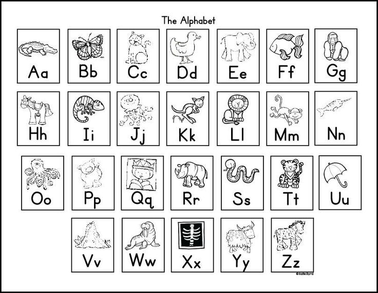 Obsessed image in printable alphabet chart black and white