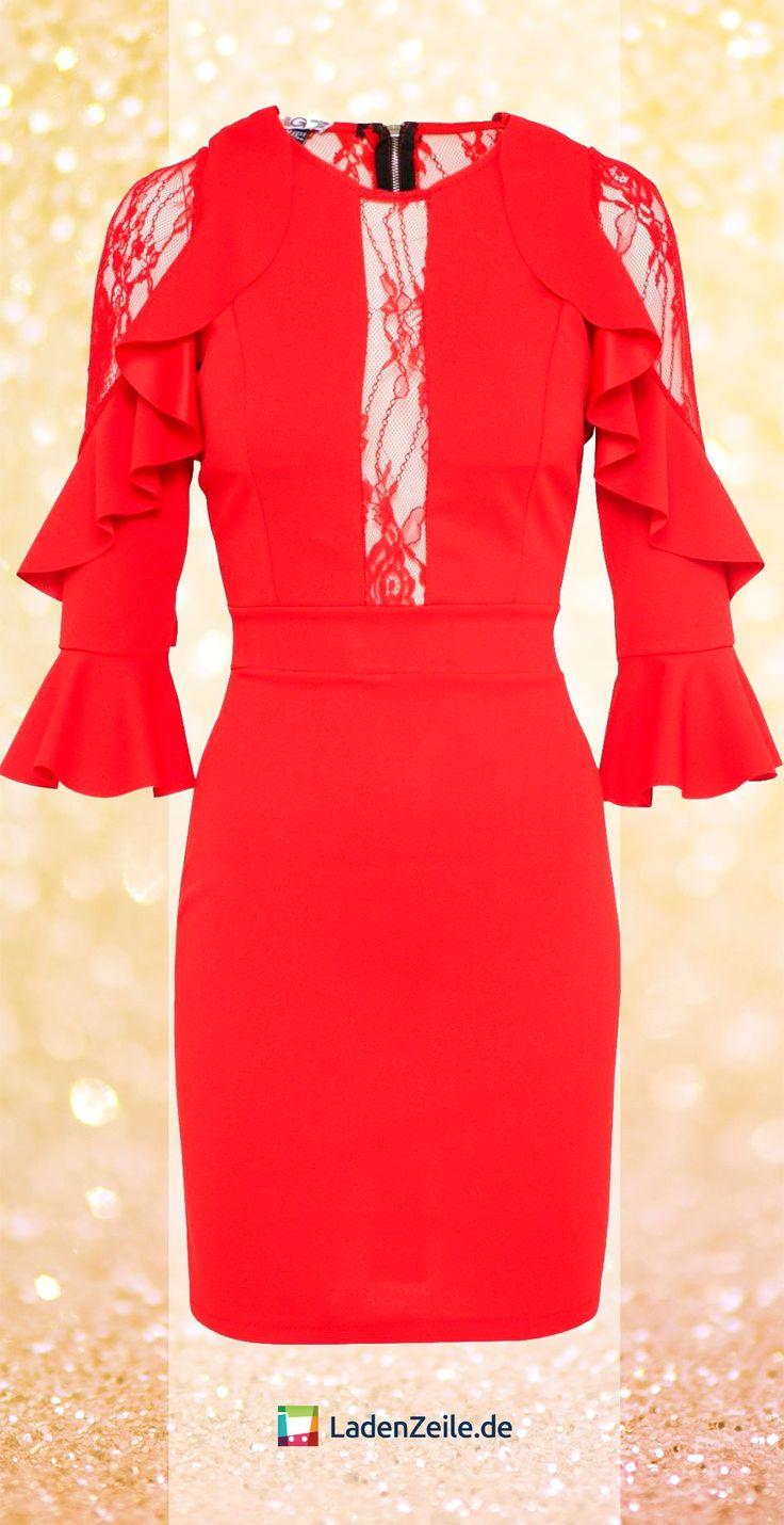 Ladenzeile abendkleider rot