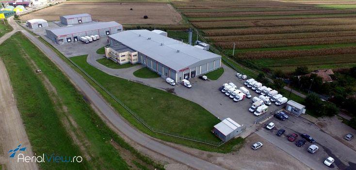 Ieri ne-am deplasat la cea mai mare fabrica de preparate din carne din judetul Cluj - CIA Aboliv SRL. #aerialview