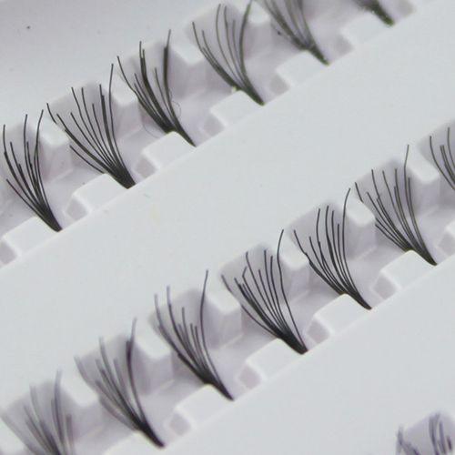 Hot Black 8mm  10mm 12mm 60  Individual  False Eyelash Cluster Eye Lashes Extension Tray  For Make up