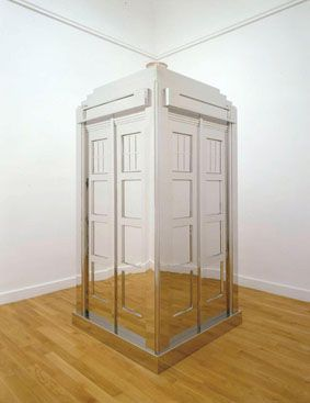Mark Wallinger Time and Relative Dimensions in Space, 2001 Stainless steel, MDF, electric light 281.5 x 135 x 135 cm Courtesy Anthony Reynolds Gallery © the artist 2008
