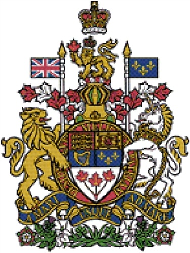 Canadian Coat of Arms cross stitch pattern