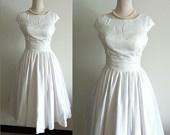 Vintage Lace Wedding Dress A LINE Satin Bridal Gown Plus Size Wedding Dress Deep V Neck with Train Buttons Dress. $192.00, via Etsy.