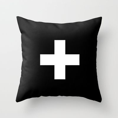 plus Throw Pillow by Trebam - $20.00