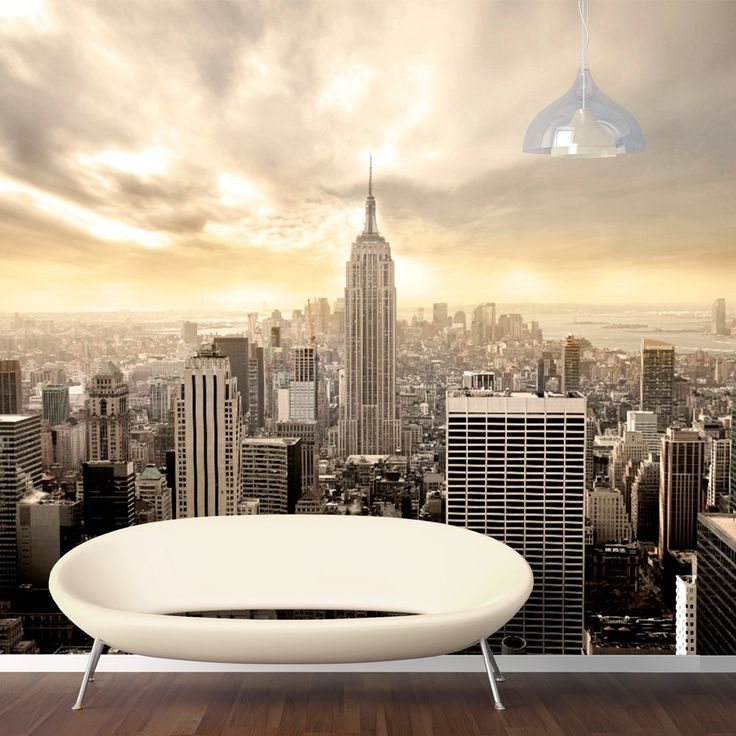 Shining Manhattan Pays Tribute To The Gleaming, Gorgeous City Of New York.  This Wall Mural Can Be Attached Directly To The Walls, Smooth Wallpaper  Surfaces, ... Part 72