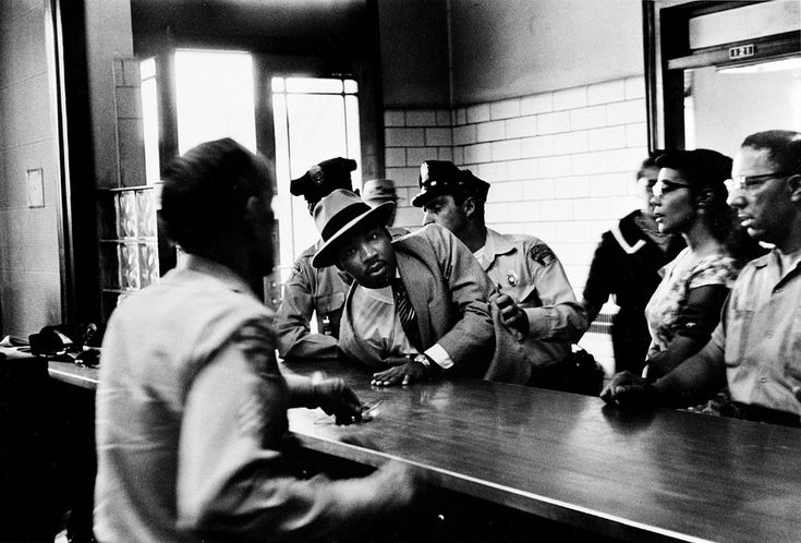 Diptyque's Crossing Martin Luther King, Jr. Arrested on a Loitering Charge, Montgomery, September 3, 1958. by Charles Lee Moore