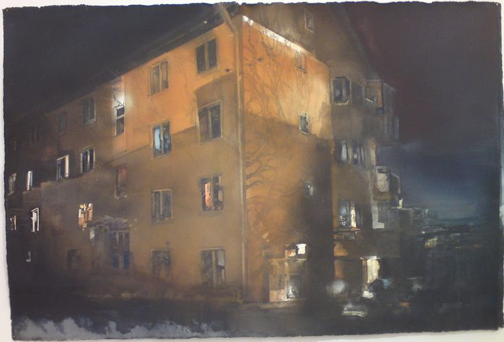 Lars Lerin, watercolor