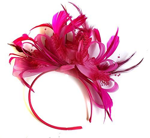 Fuchsia Hot Pink Feather Hair Fascinator Headband Wedding... https://www.amazon.co.uk/dp/B00N40M8DU/ref=cm_sw_r_pi_dp_8XzCxbM34KBTJ