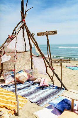 Méchant Studio Blog: beach camp mood ☮ summer été tente sur la plage