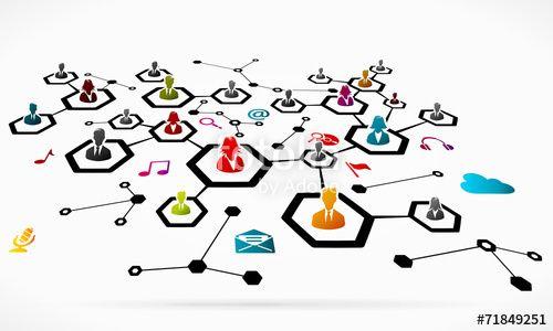 Vector: Social media network