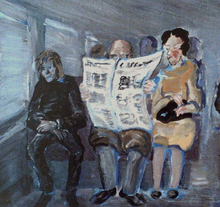 Subway  oil on canvas  1982