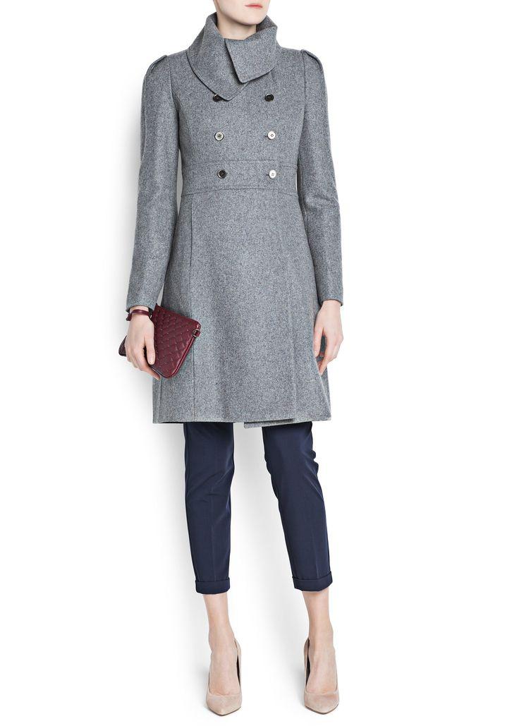 Manteau en laine gris | MANGO