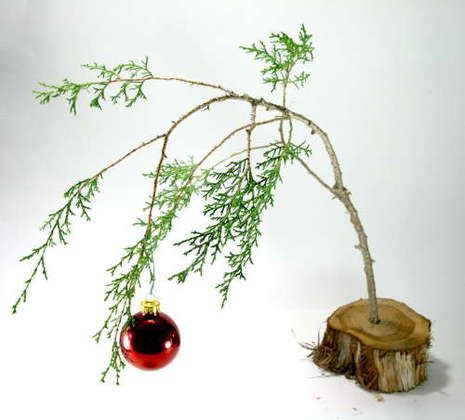 Holiday How-To: Make a Charlie Brown Christmas Tree.