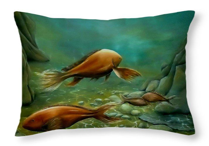Throw Pillow,  home,accessories,sofa,couch,decor,cool,beautiful,fancy,unique,trendy,artistic,awesome,fahionable,unusual,gifts,presents,for,sale,design,ideas,green,fish,underwater,ocean