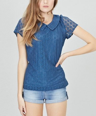 Take a look at this Navy Harriet Top by Sugarhill Boutique on #zulily today!
