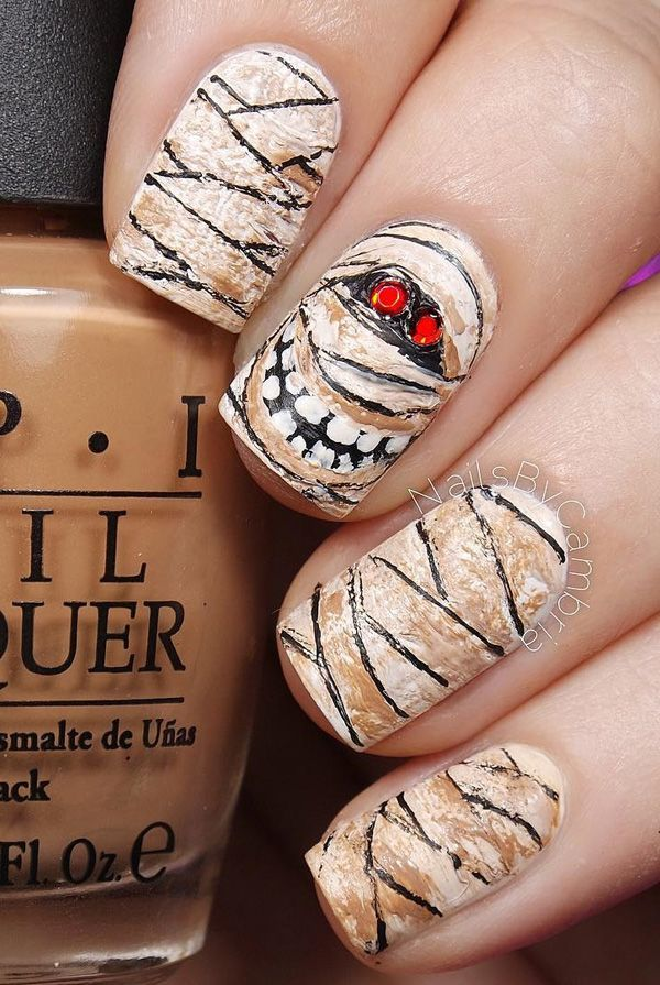 65 halloween nail art ideas nageldesign selber machen. Black Bedroom Furniture Sets. Home Design Ideas
