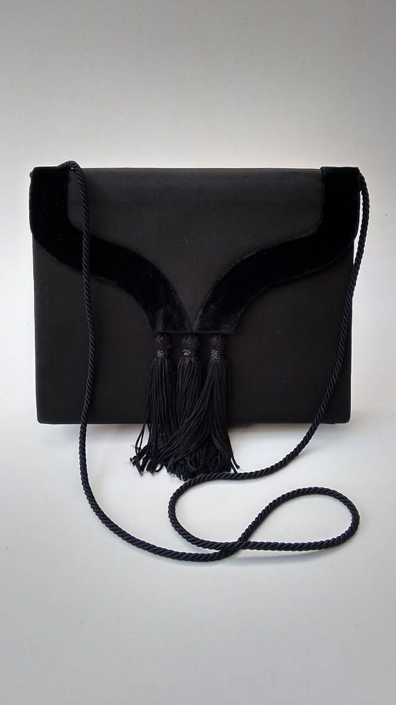 Sale YSL Yves Saint Laurent Rive Gauche Vintage Black Canvas. Sale YSL Yves  Saint Laurent Rive Gauche Vintage Black Canvas Yves Saint Laurent Bags ... f0f126969b0e1