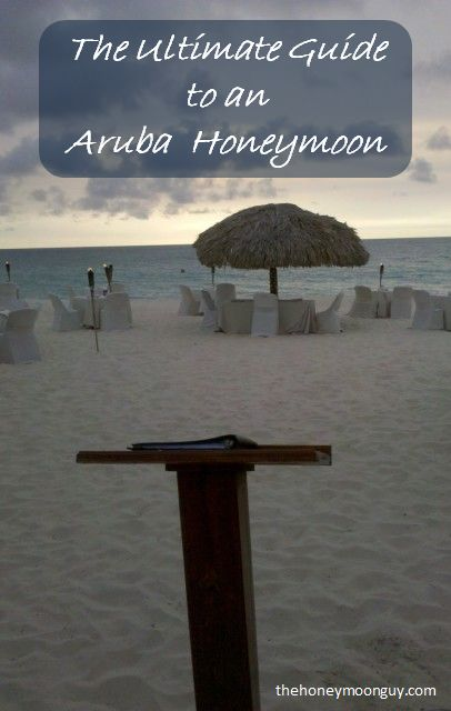 The Ultimate Guide to an Aruba Honeymoon - Get the inside info on visiting Aruba for a honeymoon with tips on activities, how to stay for nearly free and how to get there without breaking the bank! Picture is from Passions on the Beach. Sitting with your toes in the sand at this beach restaurant, eating dinner while watching the sun set over the Caribbean Sea is about as storybook as it gets on a honeymoon. If you eat at dusk, you get a grand view of the sun fading below the horizon.