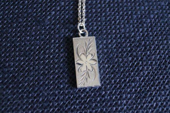 Vintage Sterling Silver Silver Ingot Flower Pendant with chain - Vintage Necklace - 1977 Birmingham Silver - London Hallmark Vintage pendant on Etsy, $99.00 AUD