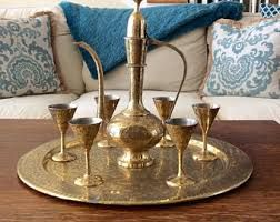 Image result for Mid century Indian brass container