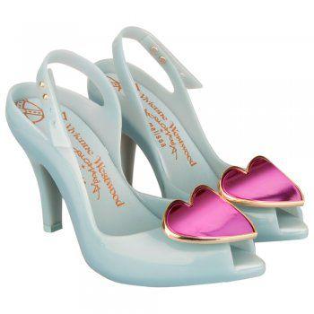 Vivienne Westwood Blue Ladydragon Heart Womens Peep Toe Shoe