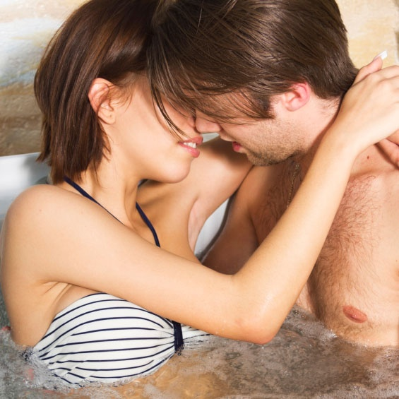 sex in a hot tub