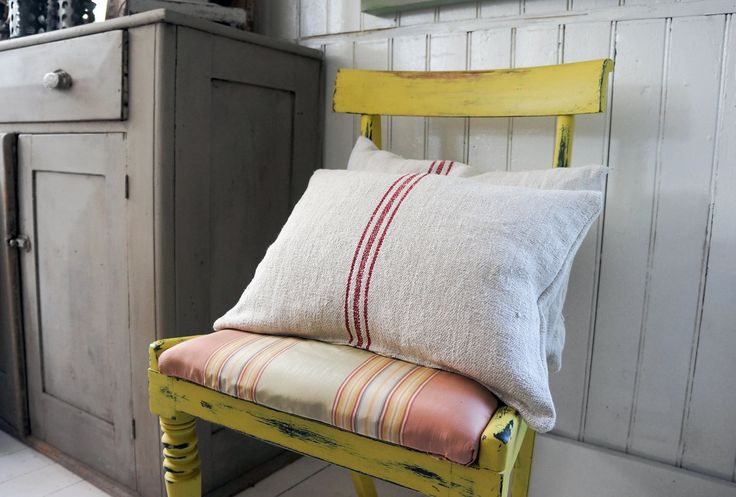 English Yellow Chalk Paint™ decorative paint by Annie Sloan | Project by The Melon Patch Home and Garden in Bath Ontario