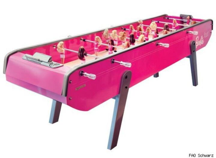 Soccer table for the girls