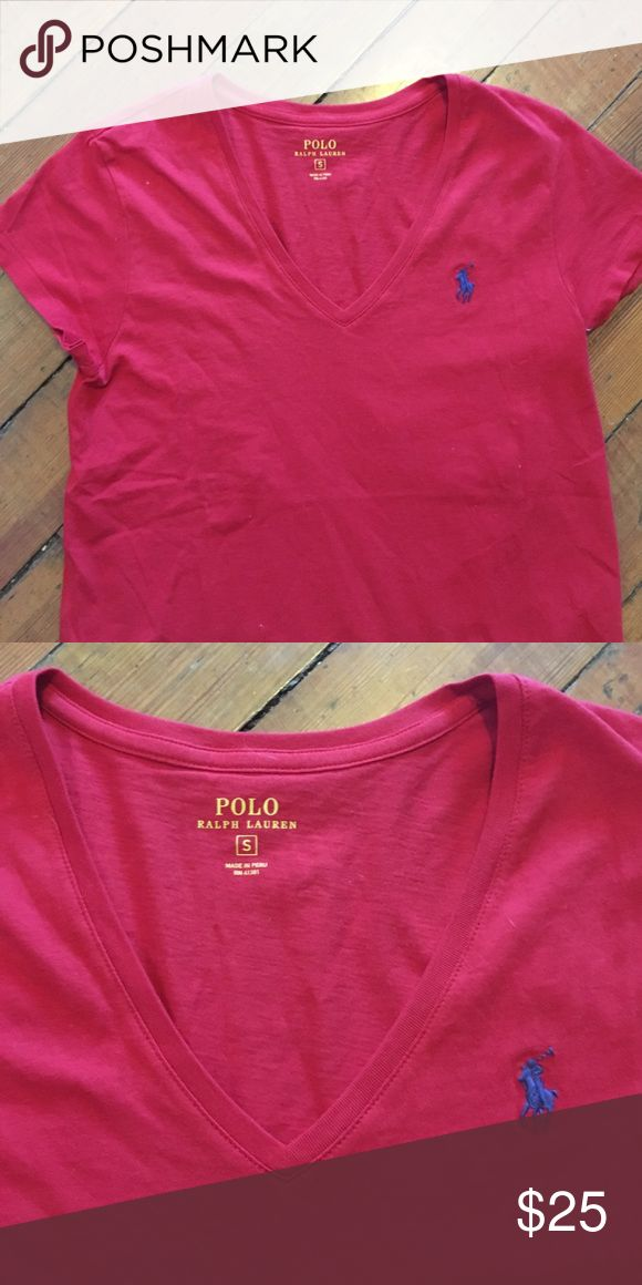 S POLO RALPH LAUREN RED TEE SHIRT Size small, polo tee shirt, brand new I ripped the tags off realized I didn't like it and cast it aside. Great condition Polo by Ralph Lauren Tops Tees - Short Sleeve