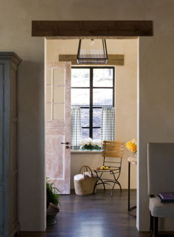 exposed beam above the doorframe and window  h o m e  Kitchen decor Kitchen decor themes