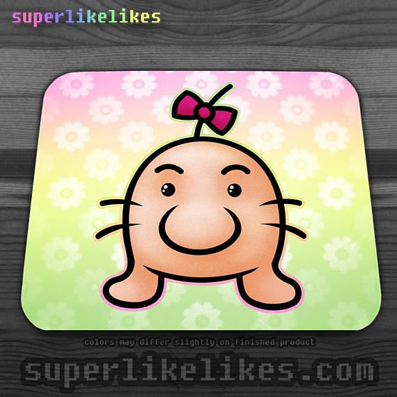 Earthbound Mr Saturn Mousepad from Etsy shop LikeLikes, $14.50