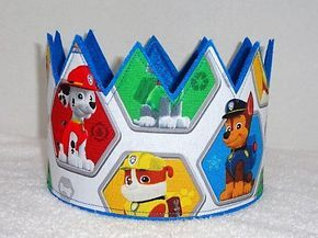 Paw Patrol Birthday Crown, Chase Birthday Crown, Felt Birthday Crown, Boys Birthday Party Hat, Birthday Hat, Play Crown, Paw Birthday Crown by MnMExtras on Etsy