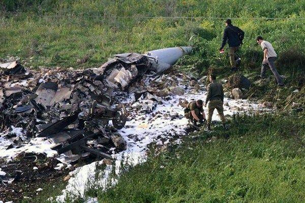 F-16 israeliano abbattuto