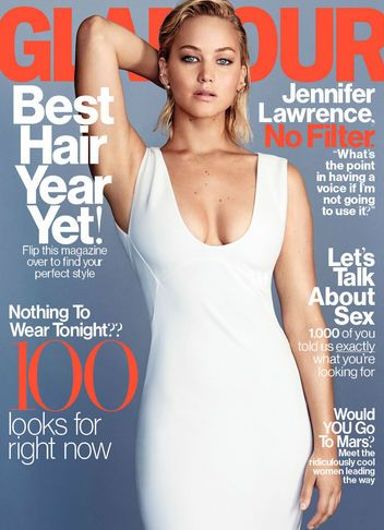 Our February cover star Jennifer Lawrence gives the no-filter, no-BS interview of your dreams.