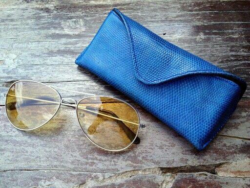 lizard varan handmade style leather glasses
