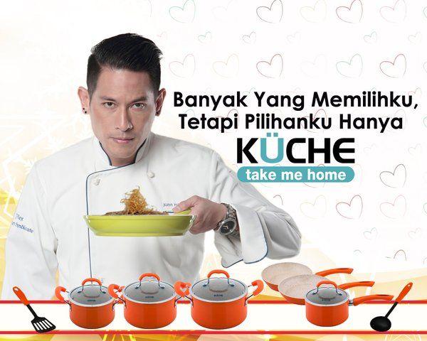 """Chef Juna tahu betul product terbaik untuk alat dapur para mom's... Buruan deh si papi diajak belanja.... """"Banyak Yang Memilihku, Tapi Pilihanku Hanya KUCHE""""..."""